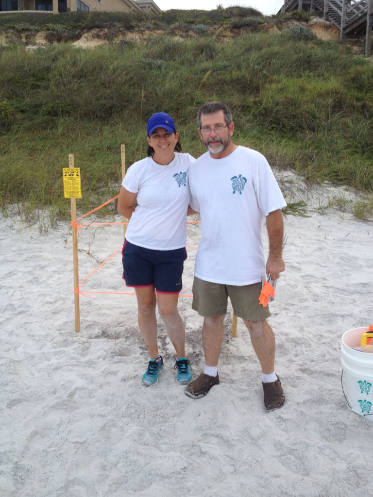 A loggerhead found by Wayne and marked by Wayne and Val we are still going strong.